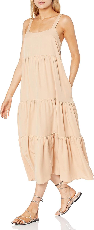 The Drop Women's Britt Tiered Maxi Tent Dress
