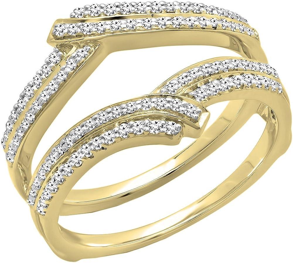 Dazzlingrock Collection 0.32 Carat (ctw) 14K Gold Round Diamond