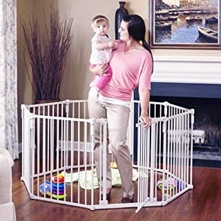 "Toddleroo by North States 3 in 1 Metal Superyard: 198"" long extra wide gate, barrier.."
