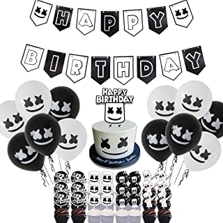 50 Pcs Marshmellow DJ Birthday Party Supplies, DJ Game Party,Ideal for Kids Gamer Fans Gaming Theme Party Decorations Favo...