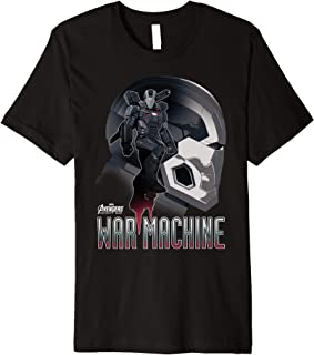 Infinity War War Machine Head Profile Premium T-Shirt