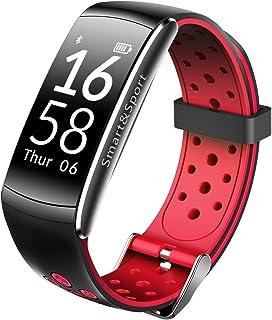 Fitness Tracker pulsera de reloj, Q8Tracker pulsera inteligente de actividad con monitor de presión arterial Monitor de ritmo cardíaco reloj inteligente con podómetro contador de calorías impermeable para iPhone y Android