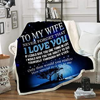 LeeDesign Family Blanket to My Wife Never Forget That I Love You Love Husband
