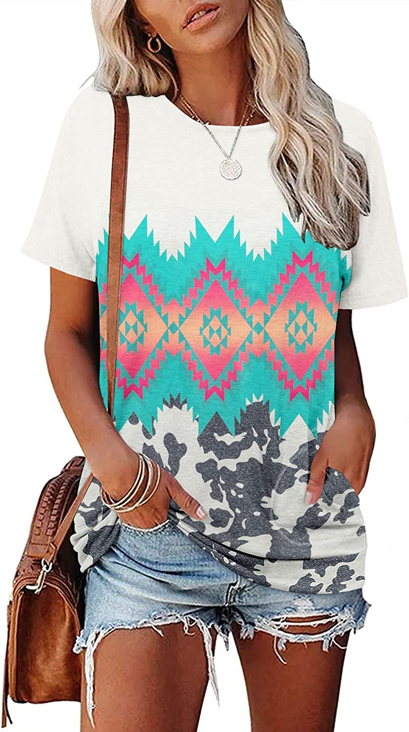 onlypuff Womens Short Sleeve Tee Max 88% OFF Shirt Casual Fit To Tunic NEW Loose