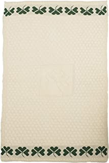 The Irish Store - Irish Gifts from Ireland Large Shamrock Blanket By Carraig Donn, Cream