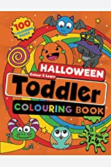 Toddler Halloween Colouring Book: 100 BIG, Easy to Colour Halloween Pages Filled With Pumpkins, Treats and Silly & Spooky (not scary) Designs to Colour and Learn. For Kids Ages 1-4 (UK Edition). Paperback