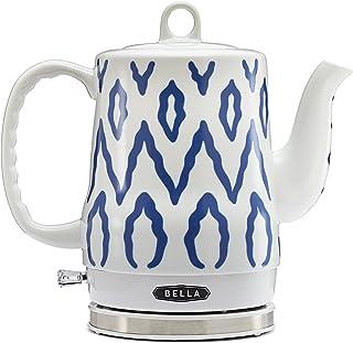 BELLA 1.2 Liter Electric Ceramic Tea Kettle with Detachable Base & Boil Dry..