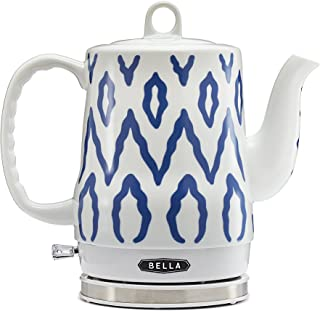 BELLA 13724 Electric Tea Kettle, 1.2 LITER, Blue Aztec