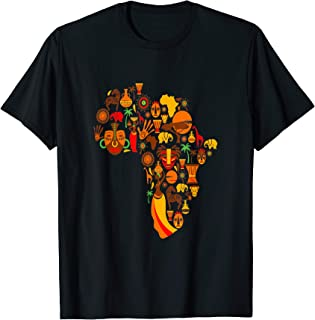 Africa Gift Tribal Primitive Heart African Black Queen KIng T-Shirt