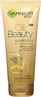 Garnier Oil Beauty Huile Exfoliante Nourrissante pour le Corps, Nettoyage en Profondeur avec 4 Huiles de Beauté: Argan, M...
