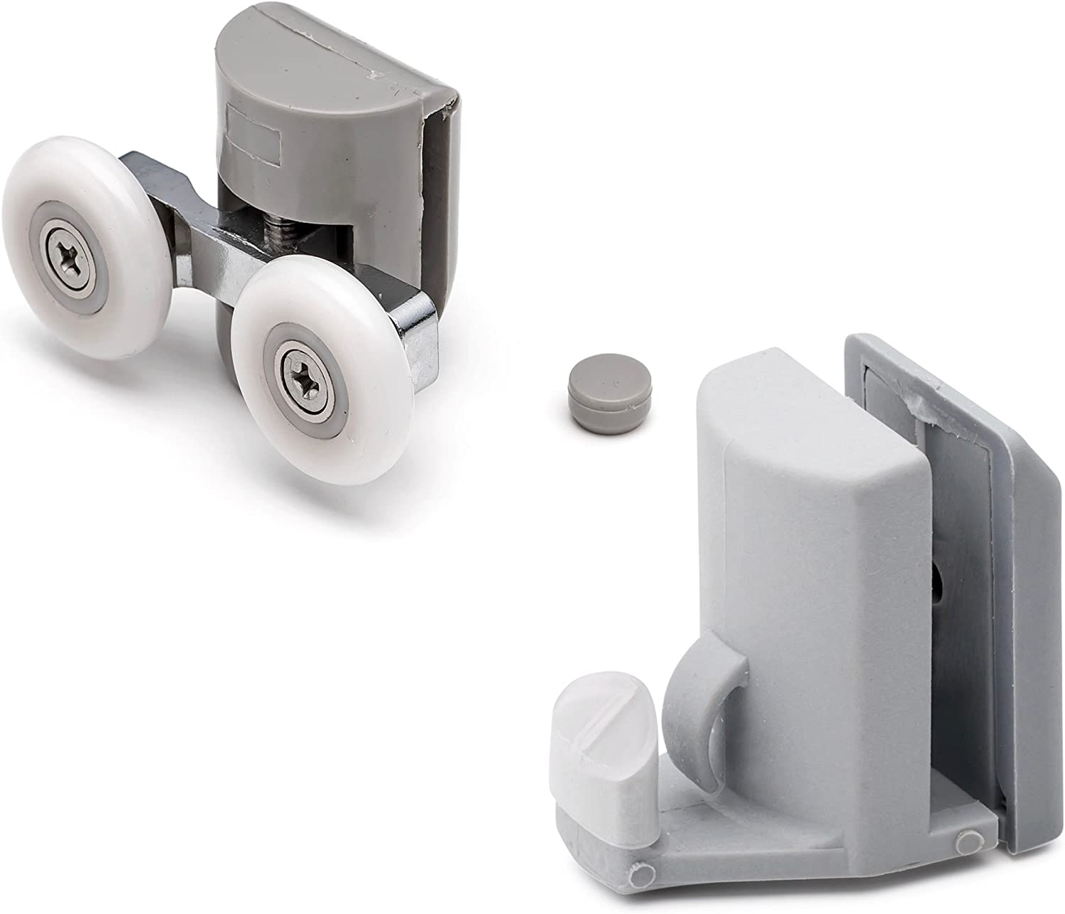 Set of 4 Shower Door Rollers Runners We OFFer at cheap prices Di Wheels [Alternative dealer] 25mm Hooks Guides
