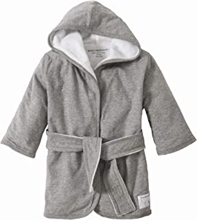 Burt's Bees Baby - Infant Hooded Robe, 100% Organic Cotton (Heather Gray)