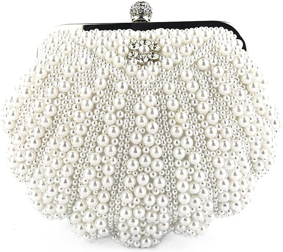 MKOIJN Clutch Evening Bag Evening Wedding Dinner Prom Clutch Bag for Women (Color : White)