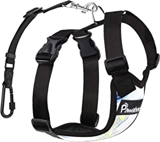 PAWABOO Dog Safety Vest Harness, Pet Car Harness Vehicle Seat Belt with Adjustable Strap and Carabiner, Easy Control for Driving Traveling Safety for Small Medium Dogs Cats