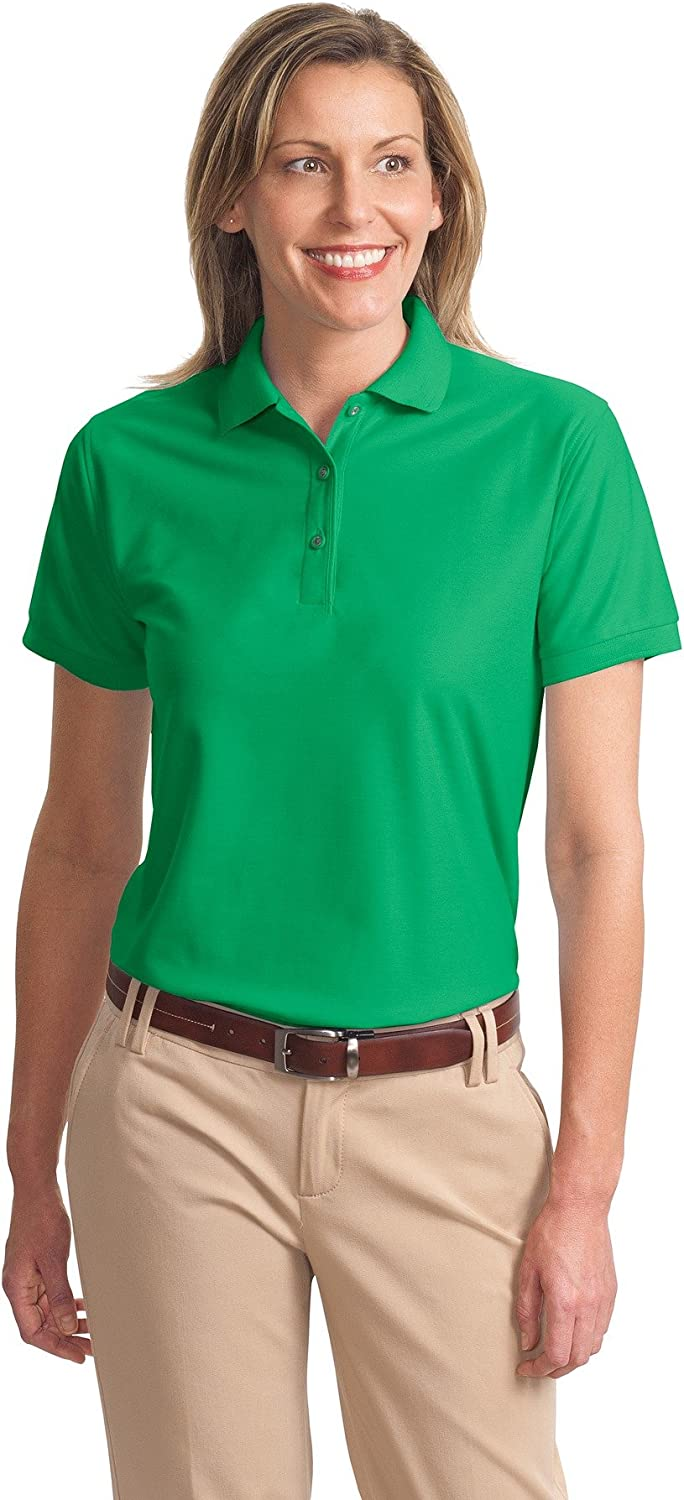 Ladies Silk Touch Sport Shirt, Color: Court Green