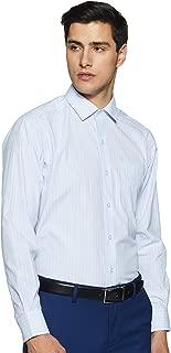 John Players Men's Solid Regular Fit Cotton Formal Shirt