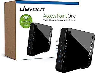 devolo Access Point One Multimedia Allrounder 'WLAN Monster' (WLAN AC bis 1733 Mbit/s, 1x Highspeed Gigabit Port, 4X Ethernet Ports), schwarz