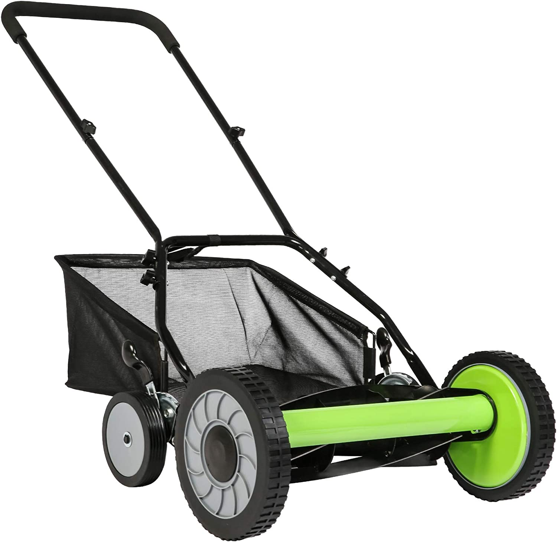 LUCKYERMORE 16-Inch Manual Reel Mower Catcher Grass Detachable Many popular Great interest brands w