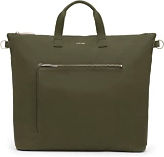 Matt & Nat Vegan Handbags, Rony Vintage Satchel Bag, Olive - 100% Animal & Cruelty Free, Full 1 Year Warranty, 100% Recycled Linings, Eco-Friendly