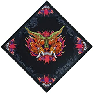 Bandanas for Men- Not Fade Moisture Wicking Printed Fashion Cowboy Towel Headscarf 25 Inches x 25 Inches