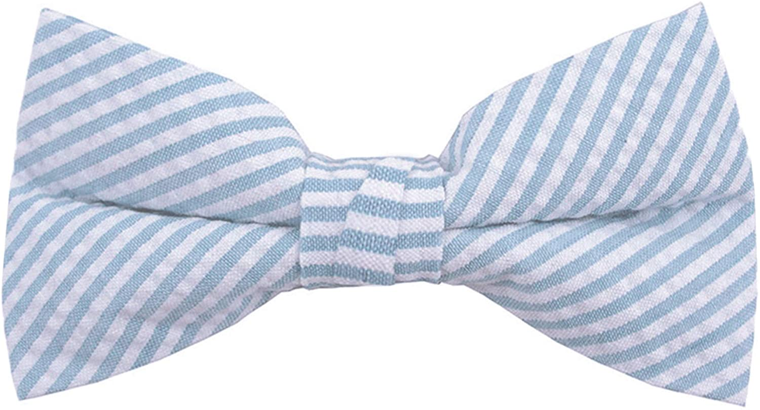 Jacob Alexander Men's Seersucker Ranking integrated 1st place Clip-O Pre-tied New mail order Striped Pattern
