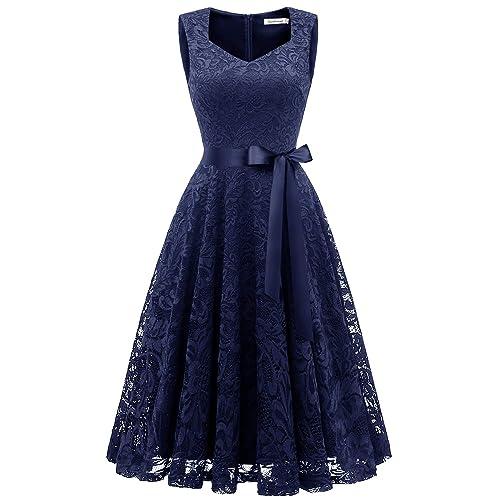 b5f8f7eeb Gardenwed Elegante Una línea Sin Mangas Floral Encaje Corto Vestido De  Fiesta Mujeres Cóctel Dama de