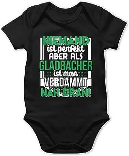 Shirtracer Städte & Länder Baby - Niemand ist perfekt Gladbacher - Baby Body Kurzarm für Jungen und Mädchen