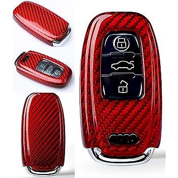 Max Coque de protection en carbone pour cl/é de voiture A1 A3 A4 A5 A6 TT TTS TTRS Q2 Q3 Q5 Q7 S1 S3 S4 S5 RS3 RS4 RS5 RS6 R8