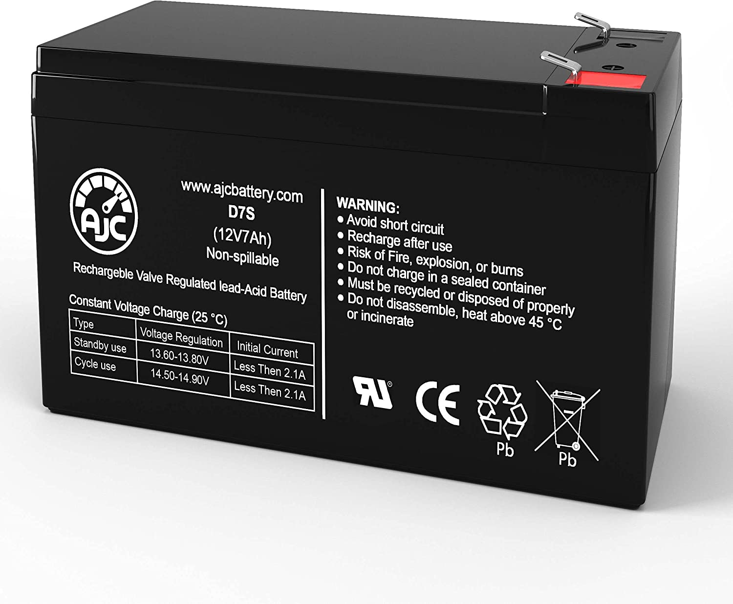 AJC Battery Compatible with CyberPower OP850 12V 7Ah UPS Battery