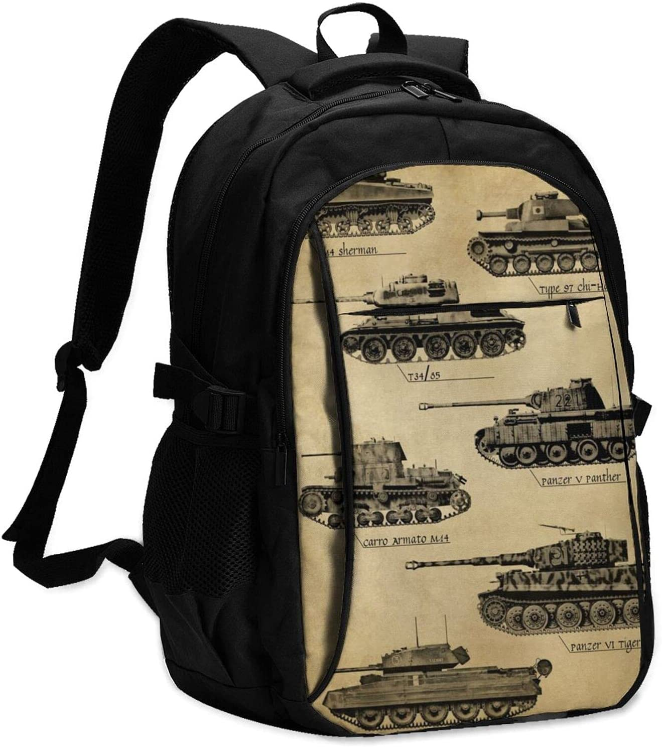 Jutdopt Ranking TOP3 Super intense SALE World War Ii Tank Laptop College School B In Backpack 18