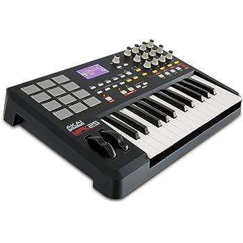 Akai Professional MPK22525-Key USB MIDI Keyboard /& Drum Pad Controller