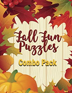 Fall Fun Puzzles Combo Pack: 164 Total Sudoku, Sudoku-X and Word Search! Medium to Hard Difficulty Level (Series: Fall Fun Puzzlers)