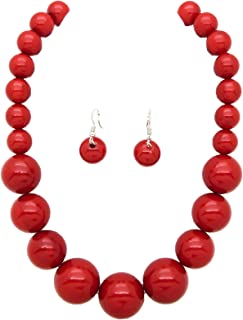 large red bead necklace