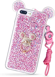 DVR4000 3D Luxury Cute Bling Giltter Diamond Mouse Ring Kickstand Strap Phone Case Cover iPhone Xs Max 6.5inch
