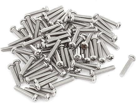 40//50//60//70//80//90 mm 60 piezas M6 Tornillos autorroscantes tirafondos de cabeza hexagonal de acero inoxidable con arandelas planas y anclaje de nylon 6 mm x