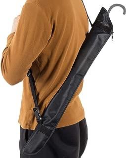 傘袋 長傘用,Arc Radle 傘カバー 両面超吸水 防錆防菌 マイクロファーバー 290T防水布 ロング 肩掛け 73*20cm ブラック