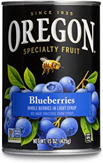 Oregon Fruit Blueberries in Light Syrup, 15-Ounce Cans (Pack of 8)