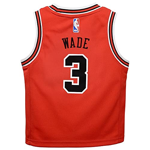 24651001f Outerstuff Dwyane Wade Chicago Bulls NBA Red Away Road Replica Jersey  Toddler Size (2T-