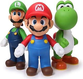 getLickOkProtoys 3pcs 13cm Super Mario Bros Luigi Mario Yoshi PVC Action Figures Toys