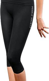 THE MOBILE SOCIETY leggings Capri Donna Intimo Sportivo Traspirante Senza Cuciture Seamless Made in Italy