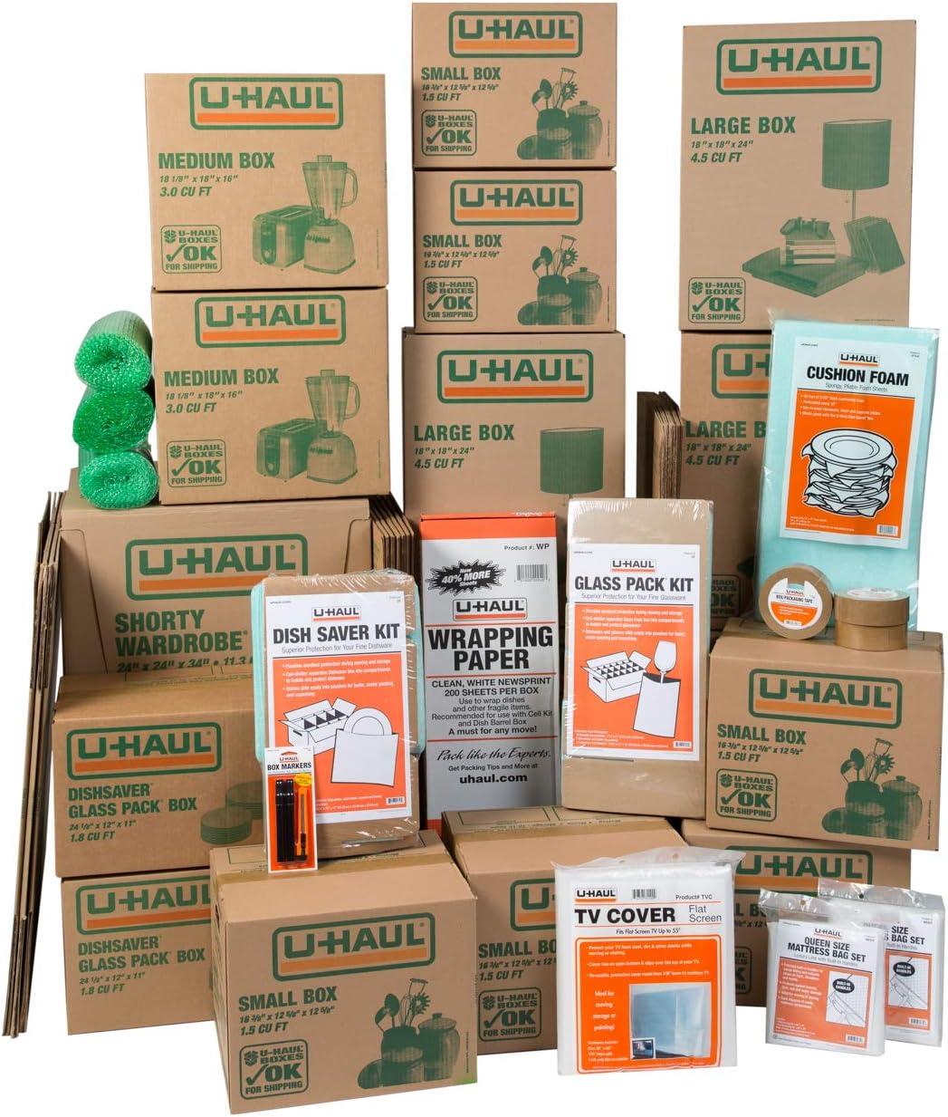 U-Haul Household 正規逆輸入品 お洒落 Moving Kit - 36 2 Boxes Wardrobe