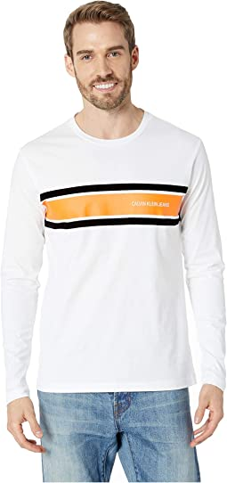 Long Sleeve Placement Stripe Tee
