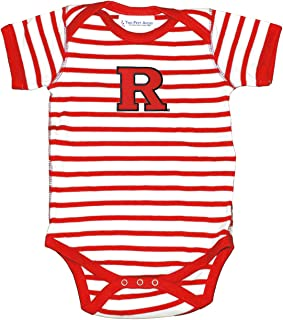 Rutgers Scarlet Knights Striped NCAA College Newborn Infant Baby Creeper