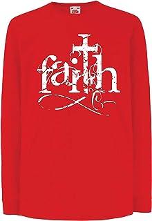 lepni.me キッズボーイズ/ガールズTシャツ 神への信仰イエス?キリスト - キリスト教の十字架のシンボル