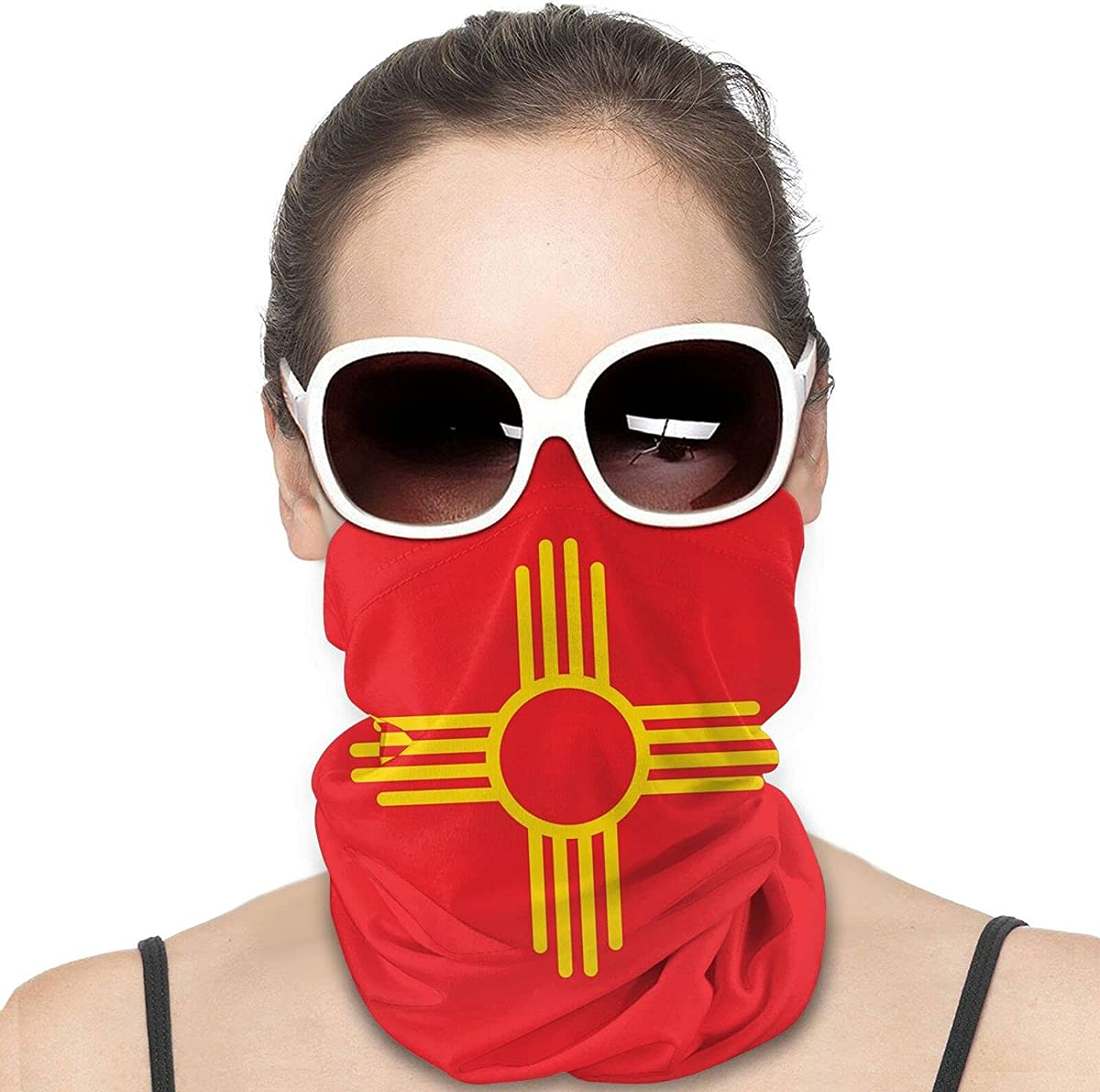 Zia Sun Round Neck Gaiter Bandnas Face Cover Uv Protection Prevent bask in Ice Scarf Headbands Perfect for Motorcycle Cycling Running Festival Raves Outdoors