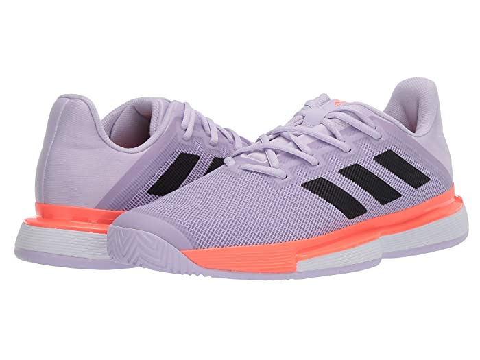 adidas  SoleMatch Bounce (Purple Tint/Core Black/Signal Coral) Womens Tennis Shoes
