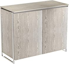 GillmoreSPACE Two Door Sideboard - Weathered Oak With Polished Frame