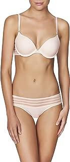 Heidi Klum Intimates Women's Striped Mesh Contour Boost Bra - Ladies Sexy Lingerie