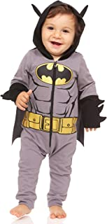 Batman Infant Costume for Boys with Goldtone Icon Belt 3D Ear and Spikes
