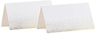 Place Cards White With Gold Foil Hot Stamped Small Hearts Pack Of 100 Tent Cards 2